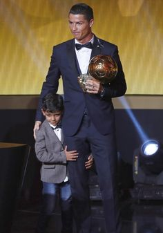 Cristiano Ronaldo of Portugal and Real Madrid at the FIFA Ballon d'Or Gala 2014 at the Kongresshaus on January 12, 2015 in Zurich, Switzerland.