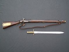 Brunswick Rifle 1862 with Bayonet, ( I don't think the year is correct but that's how it was posted ) Percussion Cap, Tactical Guns, Cartouches, Crimean War, Coin Shop, Hunting Rifles, Weapons Guns, Napoleonic Wars, Assassin