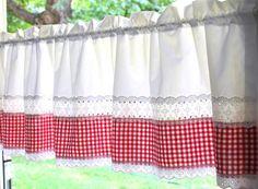 hossner gardinen serie rot wei im heine online shop kaufen tende pinterest gardinen. Black Bedroom Furniture Sets. Home Design Ideas