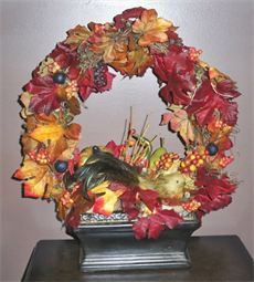 Fall Table Wreath in Urn