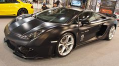 Lamborghini Gallardo Black at Essen Motorshow - Exterior Walkaround