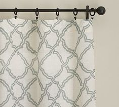 Kendra Trellis Sheer Drape #potterybarn breakfast nook