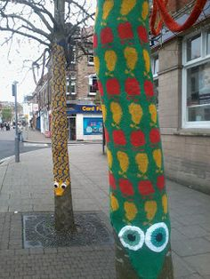 Belper Arts Trail yarn bombing