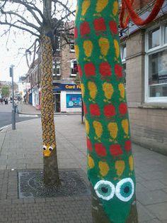 Belper Arts Trail yarn bombing
