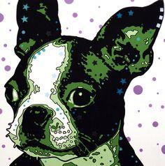 More Boston Terrier art