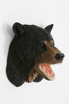 Black Bear Head Wall Sculpture - Urban Outfitters