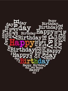 Happy Birthday Black and White heart - Old Birthdays Hearts Happy Birthday Dear Friend, Happy Birthday Hearts, Happy Birthday Black, Happy Birthday Pictures, Birthday Love, Sister Birthday, Birthday Blessings, Birthday Wishes Cards, Happy Birthday Messages