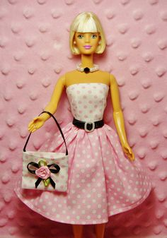 Hey, I found this really awesome Etsy listing at https://www.etsy.com/listing/114174595/barbie-clothes-pink-polka-dot-print