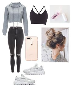 """Untitled #130"" by haileymagana on Polyvore featuring Topshop, Pepper & Mayne and NIKE"