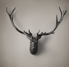 Iron Stag from Restoration Hardware; my dad would die at the thought of not having a REAL one but this is way cool