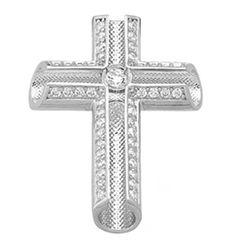 ΑΤΑ1103 -Λευκόχρυσος βαπτιστικός σταυρός 14Κ Symbols, Letters, Art, Art Background, Icons, Letter, Kunst, Fonts, Glyphs