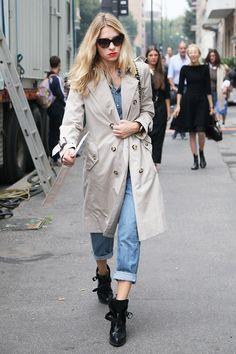 El pantalon al tobillo - Street style - Milán