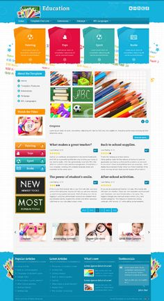 JM-School-Tools, Joomla Kids Toys Accesories Template