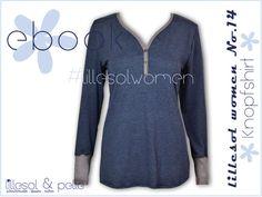Ebook / Schnittmuster lillesol women No.14 Knopfshirt