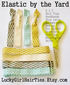 D.I.Y Hair Tie Kit Elastic Yardage and by LuckyGirlHairTies, $3.95