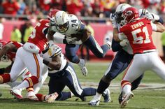 9f674c14cb0 San Diego Chargers running back Ryan Mathews (24) dives for a first down  between