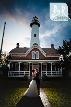 St Simons Island Wedding and Lighthouse reception.  St Simons Island Wedding Photographers via Brooke Roberts Photography @Brooke Roberts