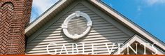 Louvers and gable vents make a beautiful addition to your home's exterior. Typically gable vents are used to ventilate attic spaces. Vinyl Shutters, Vinyl Siding, Angular Architecture, Attic Vents, Gable Vents, Beach House Plans, Vent Covers, Brick Colors, Attic Spaces