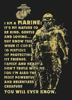 Not a Marine, but I can appreciate the sentiment.You can find Marine corps and more on our website.Not a Marine, but I can appreciate the sentiment. Marine Corps Quotes, Marine Corps Tattoos, Marine Corps Humor, Usmc Quotes, Us Marine Corps, Quotes Quotes, Usmc Tattoos, Military Tattoos, Crush Quotes