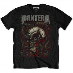 8c020d4f94707 Pantera T Shirt Snake Serpent Skull Official Black Mens Tee Classic Rock  Metal