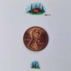 Wonderful Detailed Miniature Illustrations That Are Smaller Than A Penny - DesignTAXI.com