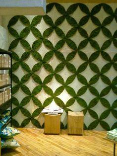 grüne bastelideen für die wand