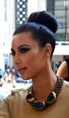 Gosh I love KIm K Hair. . .Makeup. . . Accessories. . . The whole package