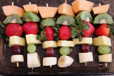 Fruit Kebabs with Honey-Lime-Ginger Vinaigrette - Healthy Ideas Place