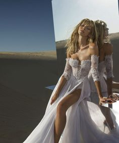 Long sleeve off the shoulder Pnina Tornai lace wedding dress. 2015 Wedding Dresses, Designer Wedding Dresses, Wedding Gowns, Lace Wedding, Pnina Tornai Wedding Dresses, Mermaid Wedding, Wedding Dress Sleeves, Dress Lace, Ball Dresses