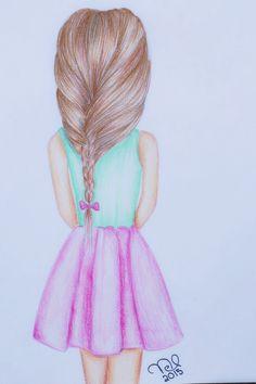 Girl drawing :) #drawing