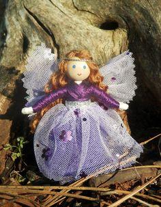 Purple Sparkle Fairy Doll Made in America – Wildflower Innocence Toys