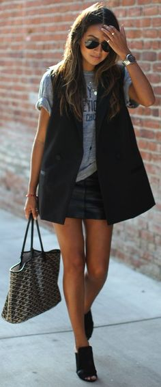 Madewell Black Tuxedo Vest by Sincerely Jules