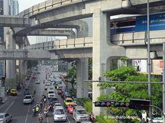 Skytrain Bangkok Street View, Forget, Travel