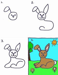 Cartoon Rainbow Drawing