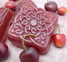 Too pretty, cherry soap