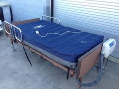 medline hospital bed full electric heavy duty with drive med aire plus low air loss mattress replacement system - Hospital Bed Mattress