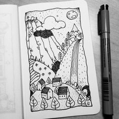 Dave Garbot — A Quiet Night #illustration #drawing #penandink...