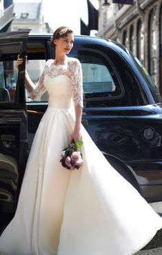 Long Half Sleeve Wedding Dress,Lace Wedding Gown, Scoop Neck Vestidos A-Line Court Train Bridal Gown Wedding sold by Now and Forever. Shop more products from Now and Forever on Storenvy, the home of independent small businesses all over the world. Best Wedding Dresses 2017, Classic Wedding Dress, Perfect Wedding Dress, White Wedding Dresses, Designer Wedding Dresses, Bridal Dresses, Wedding Gowns, Tulle Wedding, Party Dresses