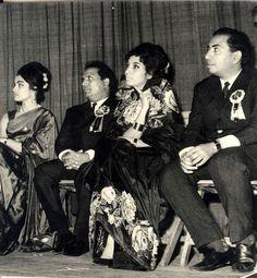 Asha Parekh. Shankar. Sharda and Mahendra Kapoor