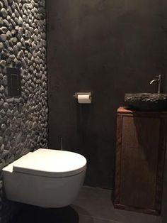 Toilette in Beton Cire. Bathroom Interior Design, Modern Interior Design, Modern Toilet Design, Modern Bathroom, Small Bathroom, Small Toilet Room, Ideas Baños, Toilette Design, Beton Design