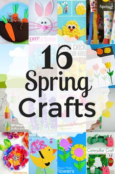 With the changing of the seasons, it's a great time to introduce fun new craft themes to kids. I love nature themed spring crafts, birds, and bunnies. Here is a list of 16 of my favourite spring crafts to do with your kids.   1. Upcycled Birdhouse Ornaments - Rhythms or Play  2. Cotton Ball Handprint Chick Craft - I heart n crafts  3. Paper Plate Flower Craft - The Resourceful Mama  4. Simple Windsock Spring Craft - 123 Homeschool 4 me  5. Hyacinth Flower Craft - I Heart Crafty Things…