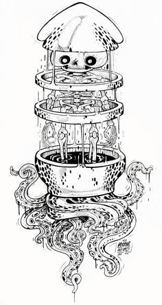 Drawings and inked illustrations on Behance