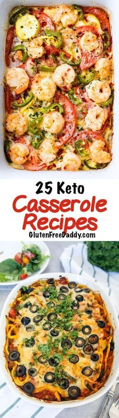 25 of the Best Ever Keto Casserole Recipes - 25 of the best ever Keto casserole recipes. Making dinner couldn't be any easier than making a casserole with these recipes. #reciperoundup #ketocasseroles #comfortfood #ketorecipes
