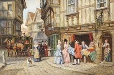 A Busy Street Scene, Frank Moss Bennett (1874-1952) | Tennants Auctioneers