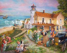 """Country Lighthouse"" by Susan Brabeau"