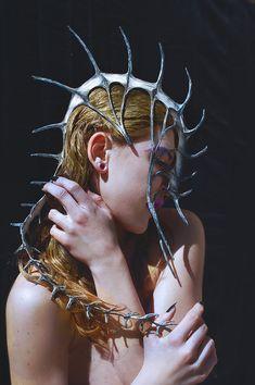Three Rivers Deep © by Christa Dickson Character Inspiration, Character Design, Estilo Tribal, Dark Beauty Magazine, Body Adornment, Fashion Art, Fashion Design, High Fashion, Headgear