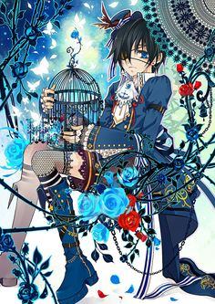 Photo of Ciel Phantomhive for fans of Ciel Phantomhive 35158983 Black Butler Ciel, Black Butler Cosplay, Black Butler Kuroshitsuji, Ciel Phantomhive, Art Manga, Manga Anime, Black Butler Wallpaper, Alice In Wonderland Room, Otaku