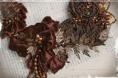WHERE the FERN GROWS Deep in the forest, in the waning days of summer, the ferns that grow at the base of the ancient trees turn russet and Fabric Flower Necklace, Ruff Collar, Fox Jewelry, Scarf Necklace, Fox Design, Ferns, Fabric Flowers, Wearable Art, Seed Beads