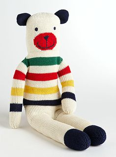 13406906c302 HUDSON S BAY COMPANY COLLECTION Sock Teddy Knitted Teddy Bear