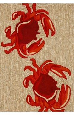 Red crab home decor